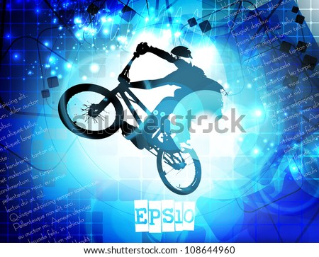 BMX cyclist - stock vector