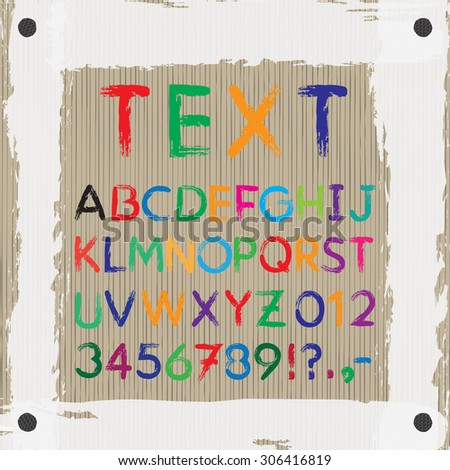 Board For Text And Images Font Alphabet Letters A Z Numbers 0