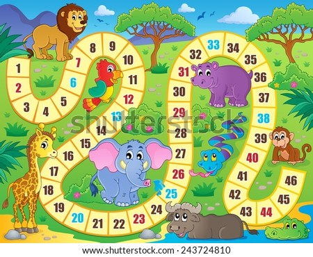 Board game theme image 1 - eps10 vector illustration. - stock vector