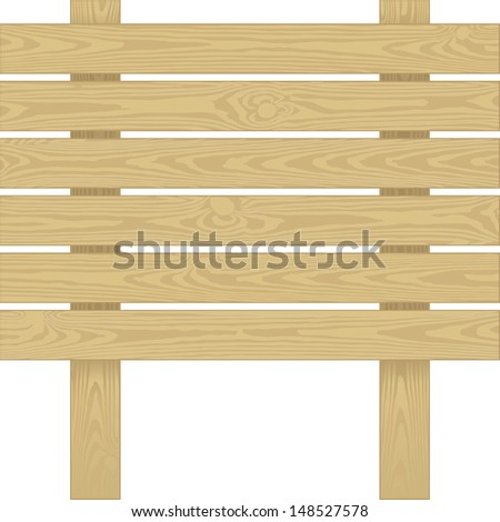 board with wooden planks