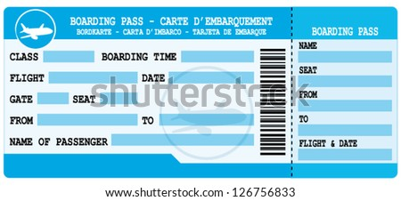Plane Ticket Images RoyaltyFree Images Vectors – Plane Ticket Template