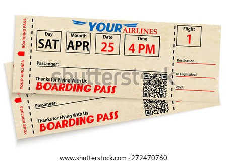 Boarding pass tickets - stock vector