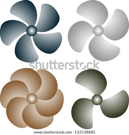 boat propeller - stock vector