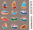 boat stickers - stock photo
