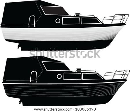 boat 2 - vector - stock vector