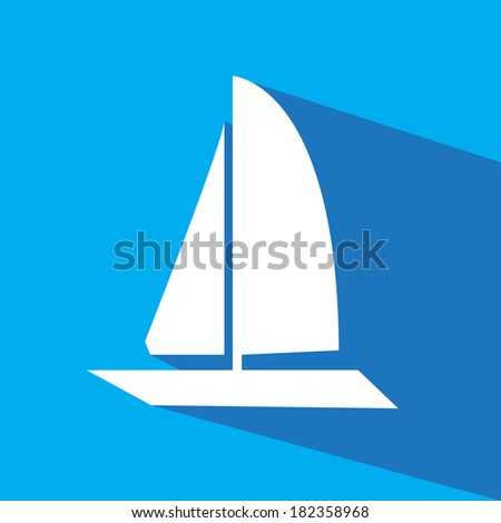 boat vector icon - stock vector