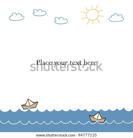 boats on the sea. Vector