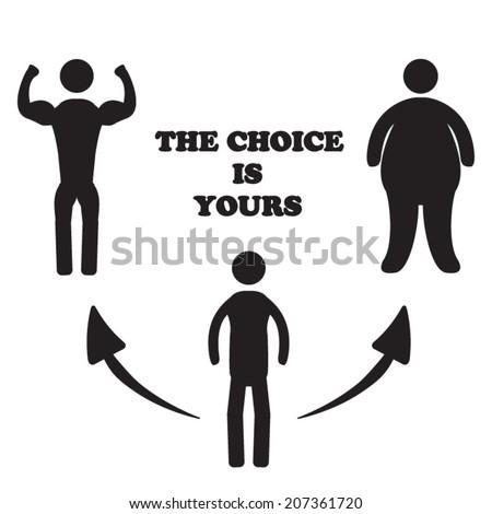 Body choice - stock vector