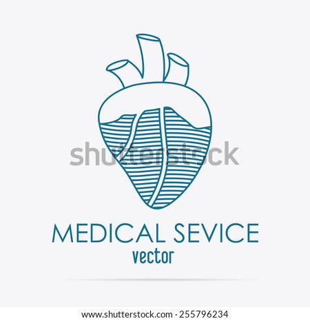 body,healthy desing over, white background, vector illustration. - stock vector