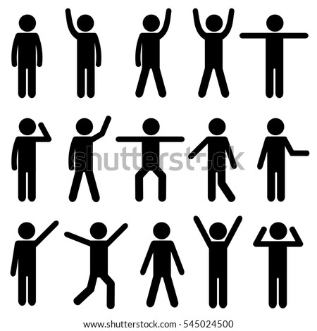 Body Workout Exercise Stick Figure Pictogram Icon. Health Life Concept. Vector Illustration