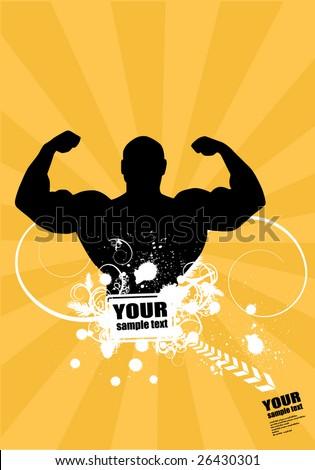 Bodybuilder - stock vector