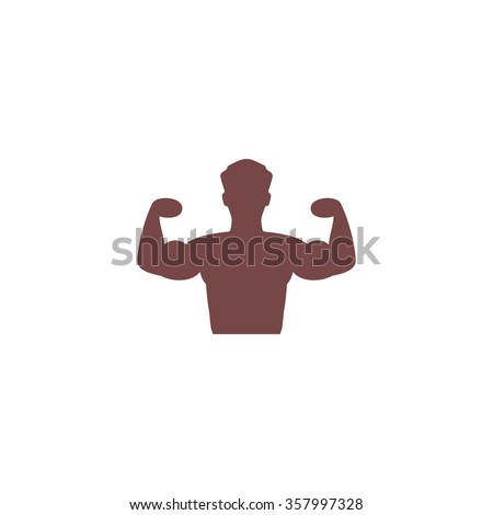 Bodybuilder Fitness Model. Colorful vector icon. Simple retro color modern illustration pictogram. Collection concept symbol for infographic project and logo - stock vector
