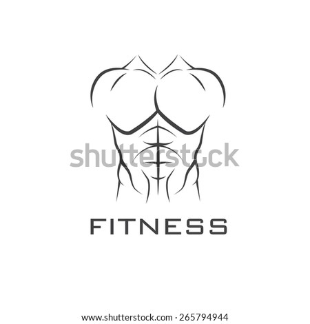 Bodybuilder Fitness Model Illustration - stock vector