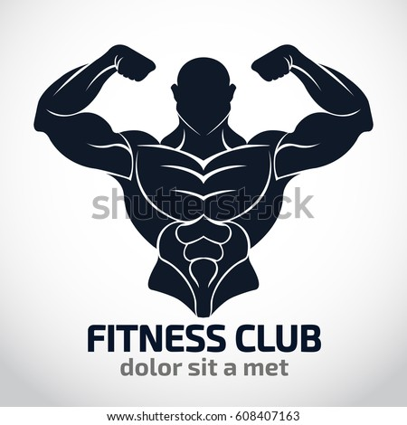 Bodybuilder Logo TemplateVector Object And Icons For Sport Label Gym Badge Fitness
