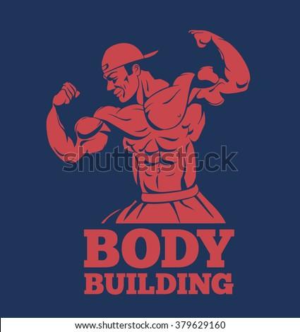 bodybuilder muscle man fitness model posing stock vector 379629160 rh shutterstock com bodybuilding logo maker bodybuilding logo maker