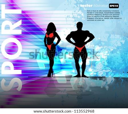 Bodybuilding - stock vector