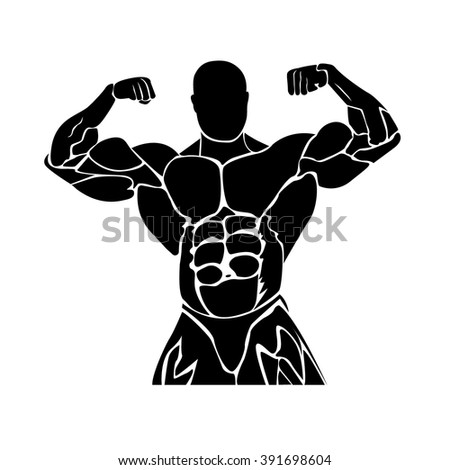 bodybuilding graphic design , strongman,icon, power lifting,  vector illustration