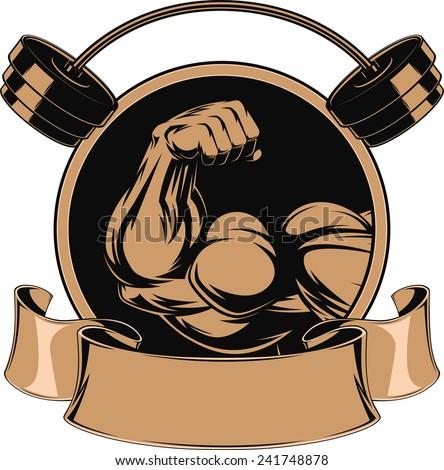 Bodybuilding, iron biceps - stock vector