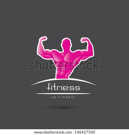 Bodybuilding label - vector illustration - stock vector