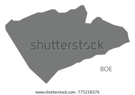 Boe Map Nauru Grey Illustration Silhouette Stock Vector - Nauru map vector