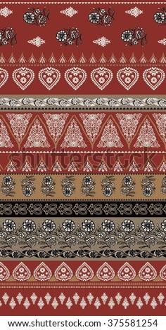 bohemian boho skirt print - stock vector
