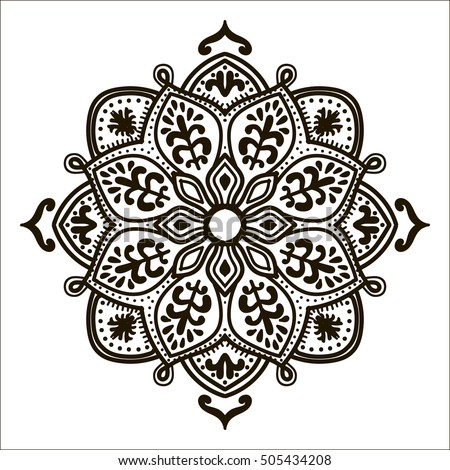 printable medallion coloring pages - bohemian indian mandala print vintage henna stock vector