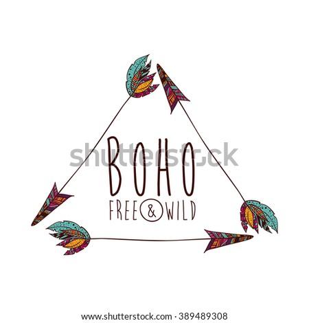 Arrow Boho Style Design Stock Vector 516392383