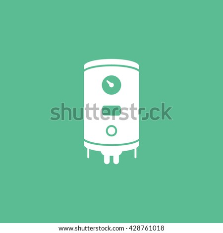 Boiler Icon On Green Background
