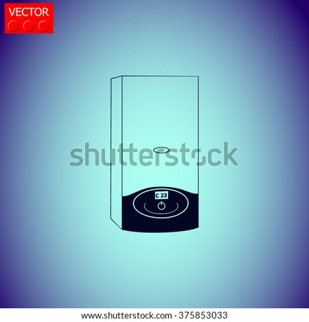 Boiler icon. Vector illustration.