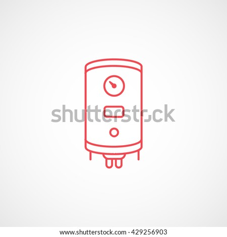 Boiler Red Icon On White Background
