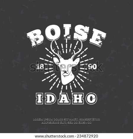 Stock images royalty free images vectors shutterstock for Boise t shirt printing