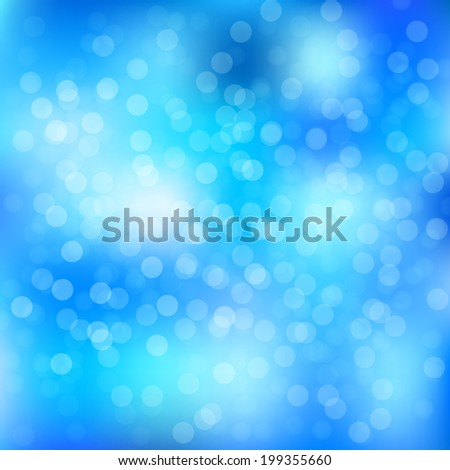 bokeh and lens flare pattern on blue sky background (vector) - stock vector