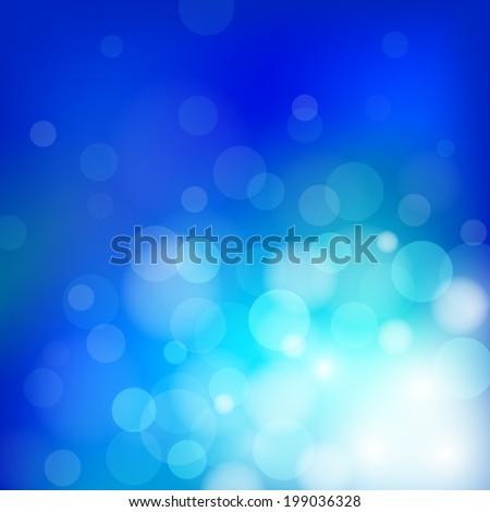 bokeh and lens flare pattern on dark blue sky background (vector) - stock vector