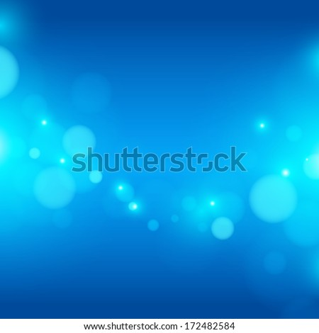 bokeh blue background - stock vector