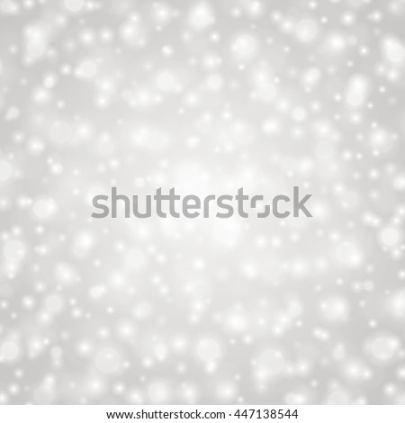Bokeh light gray sparkles on transparency background vector illustration. Glowing glittering particles element for special Effects. Abstract design. - stock vector