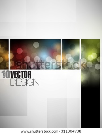 bokeh night lights promotional materials elements background design eps10 vector - stock vector