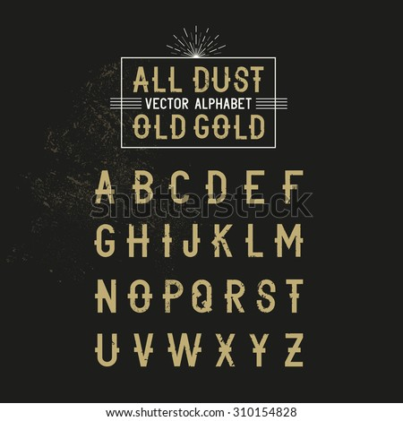 Bold all caps Vector Alphabet text for decoration and effects. Vector illustration. - stock vector