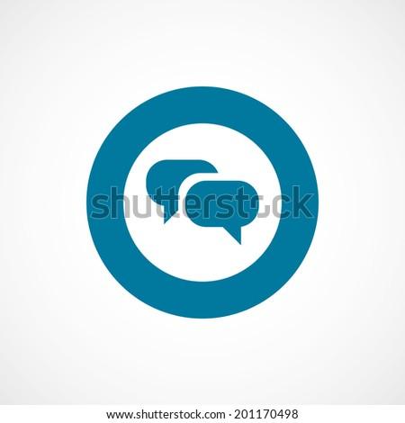 bold blue border circle Flat Conversation Icon - stock vector