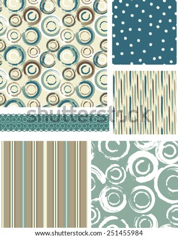Bold Circular Vector Patterns. Use as pattern fills to create stunning items for art and craft projects. - stock vector