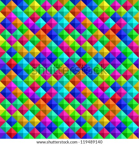 Bold Colorful 3-D Background - stock vector