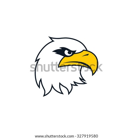 bold eagle bird template
