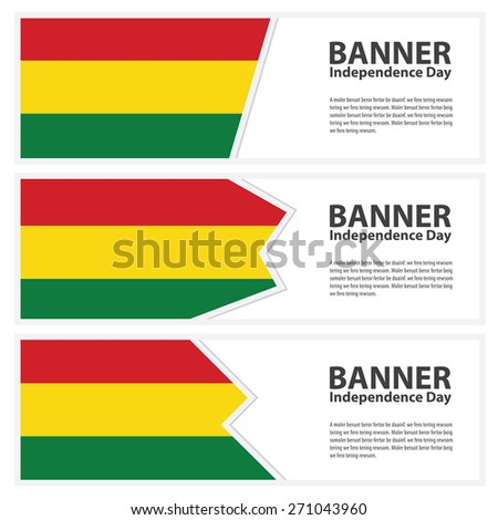 bolivia  Flag banners collection independence day - stock vector