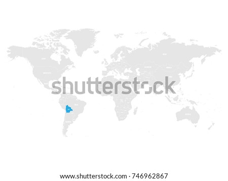 Bolivian Map Stock Images RoyaltyFree Images Vectors - Map of bolivia world