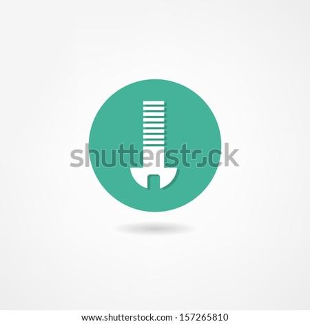 bolt icon - stock vector