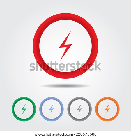 Bolt sign icon , electric sign - stock vector