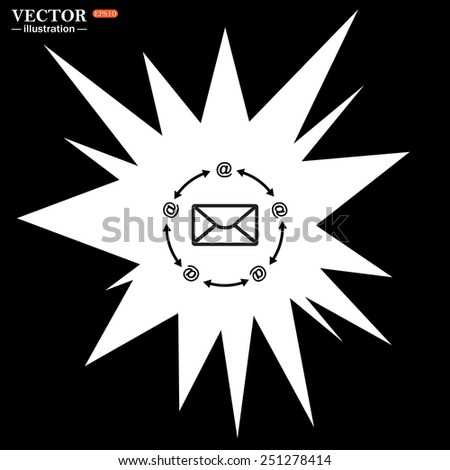 Bomb, blast. Explosion, cotton. Flash, an explosion on a black background. Internet e-mail, vector illustration, EPS 10 - stock vector