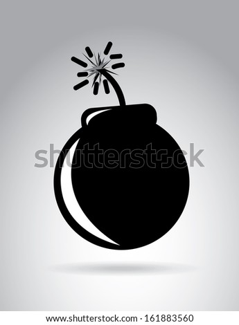Bomb design over gray background vector illustration   - stock vector