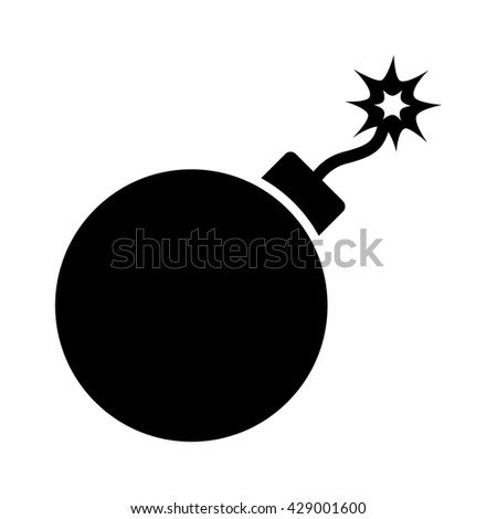 Bomb explosive device flat icon for games and websites - stock vector