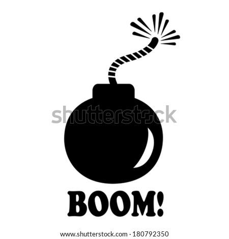 Bomb Icon Vector Bomb Icon Stock Vector