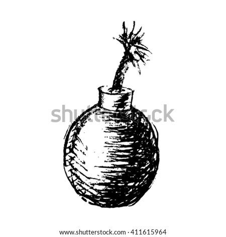 bomb vector illustration - stock vector